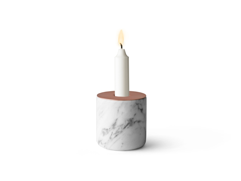 Menu Chunk Marble Candleholder by Andreas Engesvik